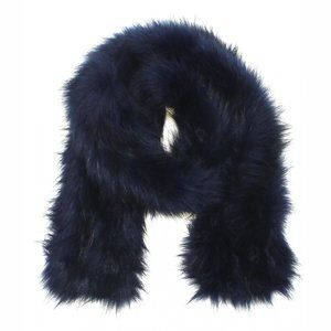 A New Day Faux Fur Stole Cold Weather Scarf Navy